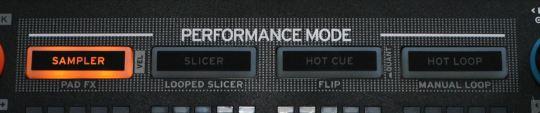 Reloop Neon - Performance-Mode-Tasten