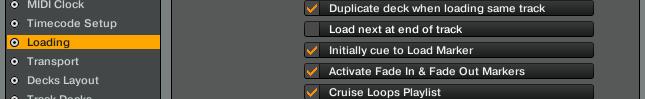 """""""Initial cue to loadmarker"""" sollte aktiviert sein"""