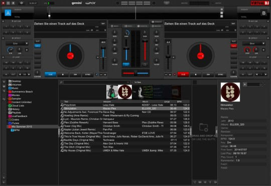 Gemini GMX - der Controller wird mit Virtual DJ LE ausgeliefert