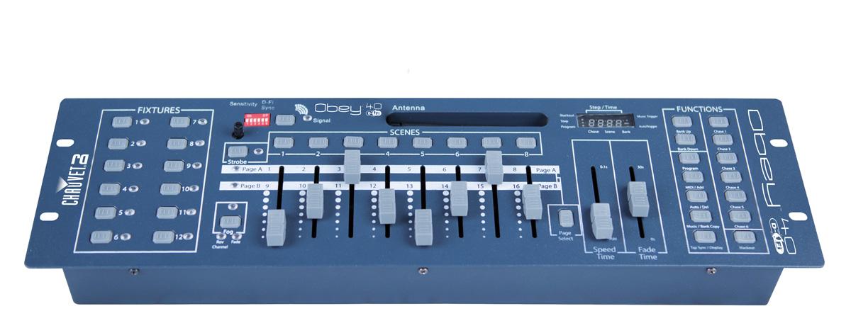 Chauvet Obey4 DFI DMX-Mixer mit Antenne