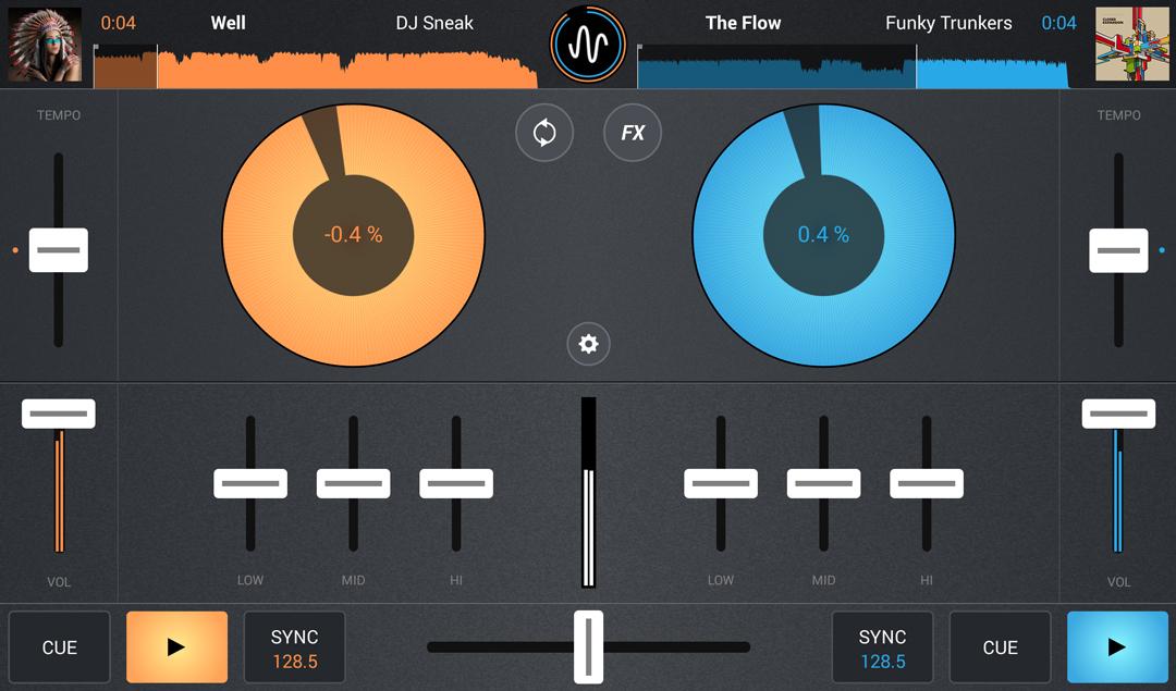 mixvibes cross dj erste pro dj app f r das android betriebssystemmixvibes cross dj first pro. Black Bedroom Furniture Sets. Home Design Ideas