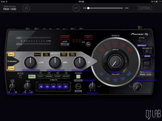 Pioneer RMX-1000 for iPad
