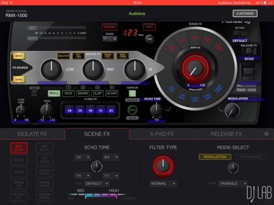 Die App RMX-1000 lässt sich bei Bedarf anpassen