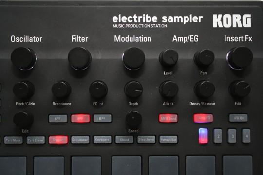 Korg Electribe Sampler - Bedienoberfläche