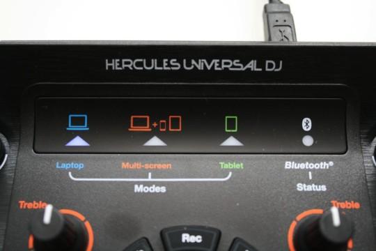 Hercules Universal DJ - Modusanzeige