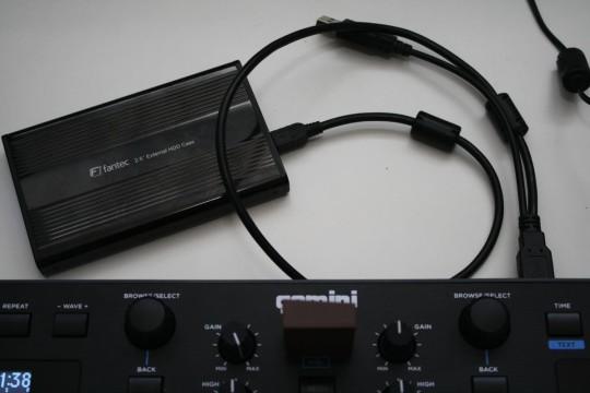 Gemini GMX - Festplatten und USB-Sticks lassen sich nutzen