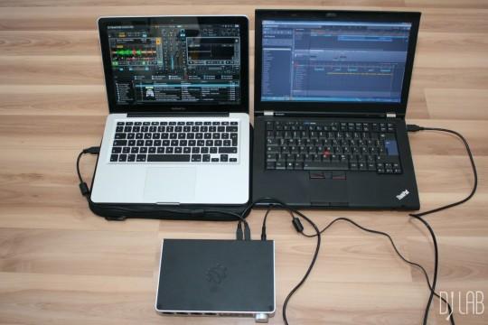 iConnectAUDIO4+ - Zwei Computer im Einsatz