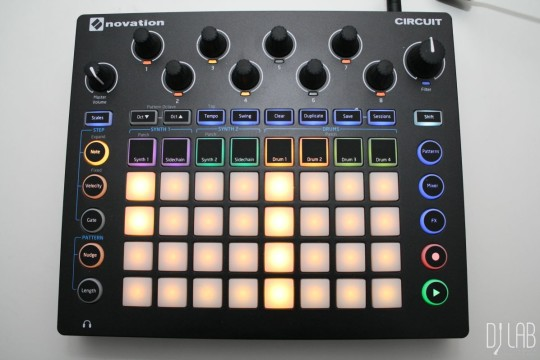 Novation Circuit, Drum View