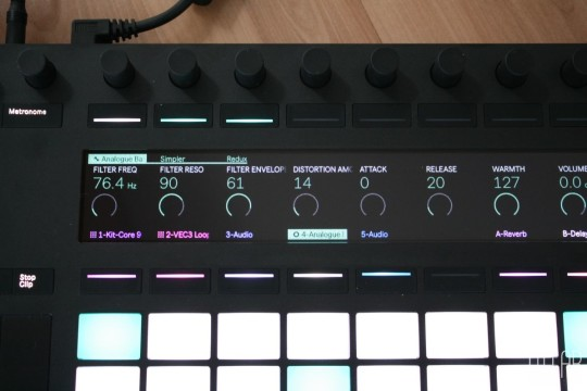 Ableton Push 2 - Display