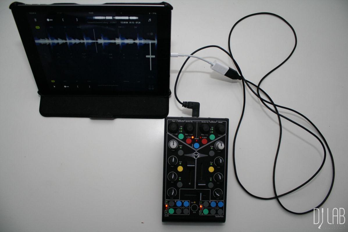 Faderfox DJ4 - iPad-Kombination