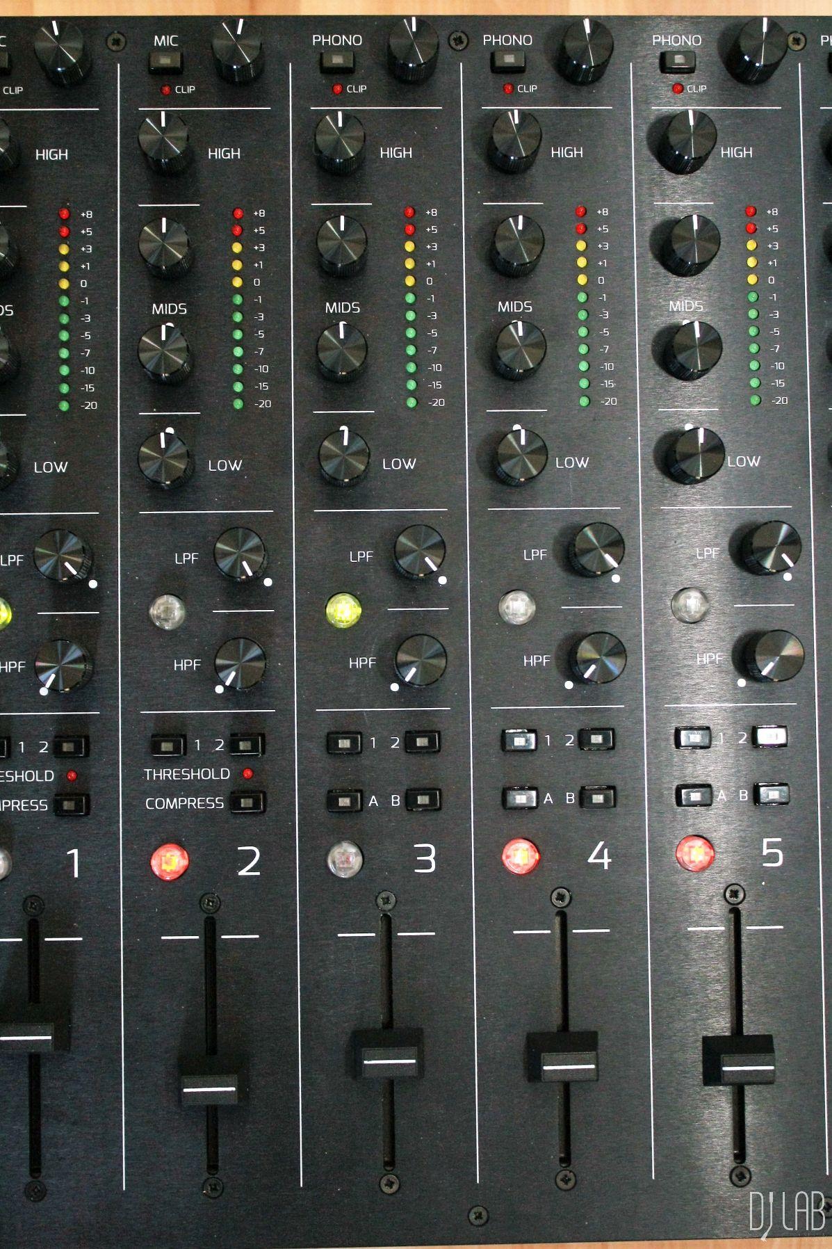 Kanalzüge mit 4-Band-EQs und Filterschaltungen