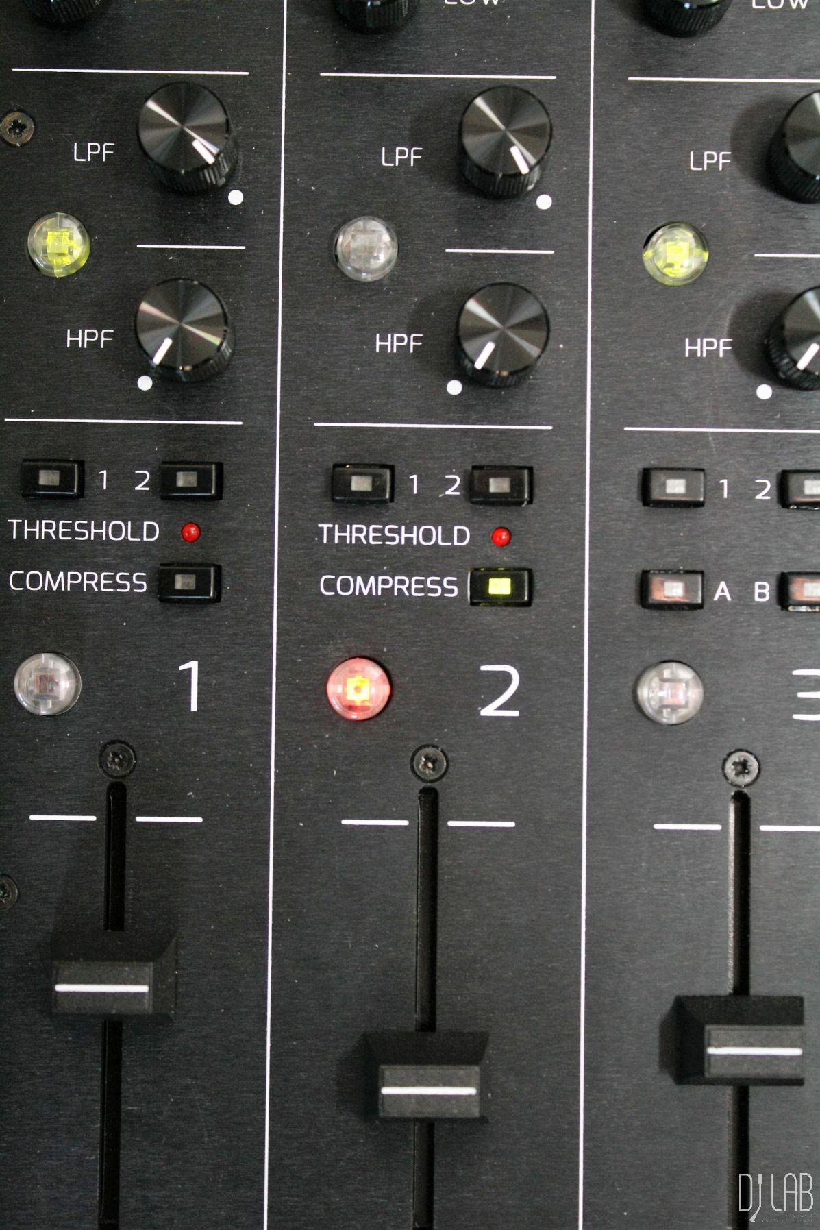 Kanal 1+2 sind mit Kompressoren ausgestattet