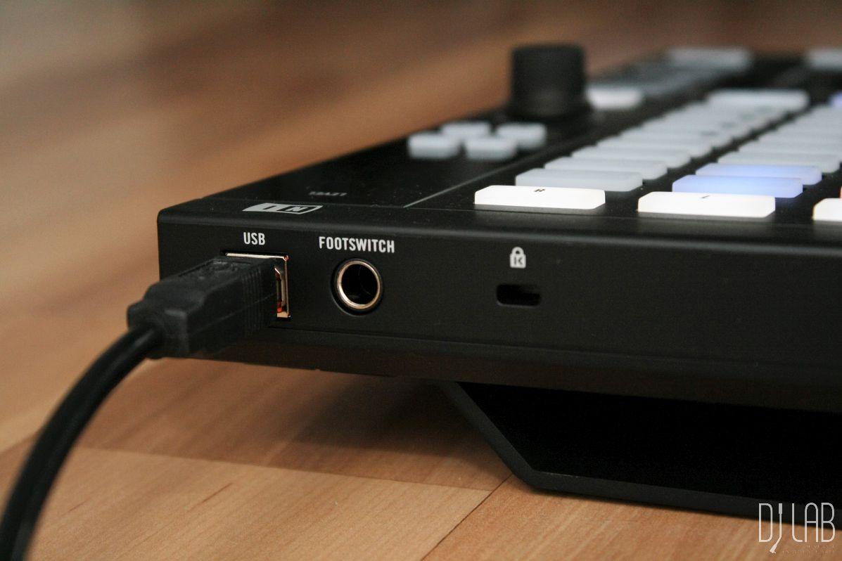 USB- und Fußschalterbuchsen