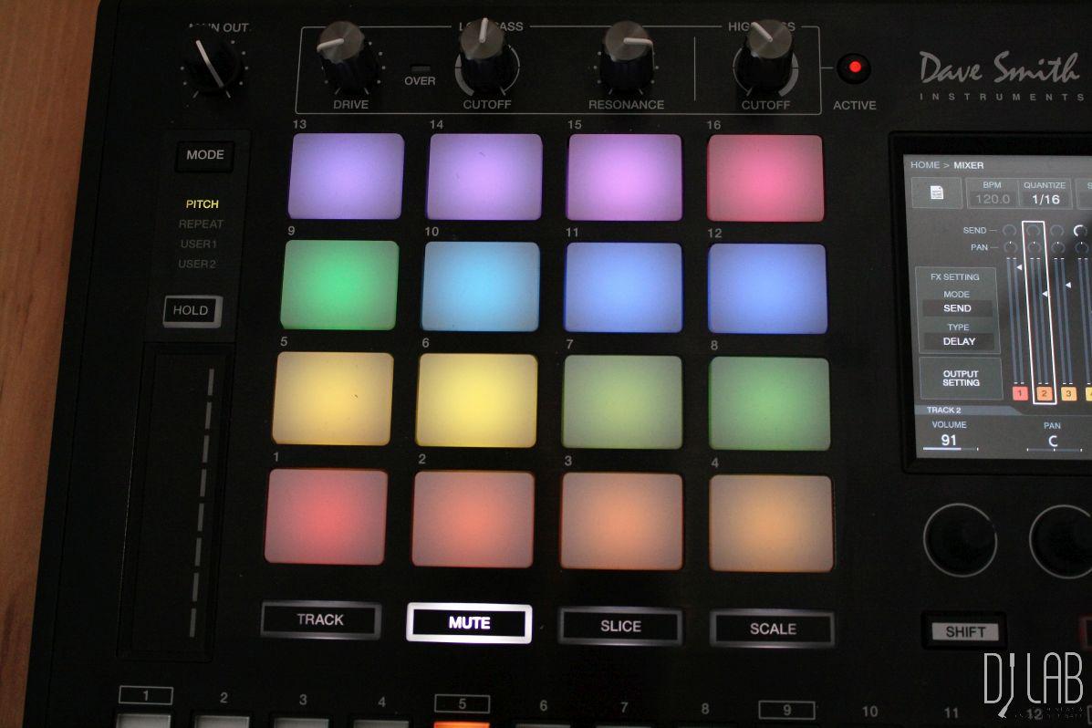 Mehrfarbig beleuchtete Pads