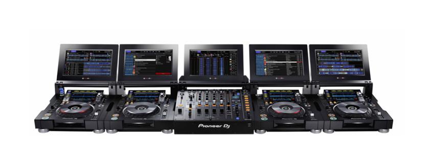 neu: pioneer djm-tour1 & cdj-tour1 - toursystem mit screens - dj-lab HA96