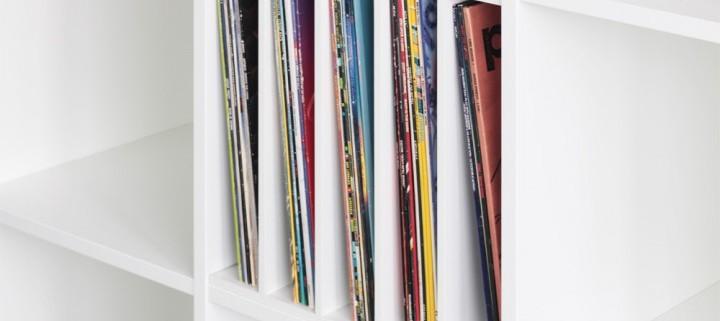 Ikea Regal Einsatz für Schallplatten
