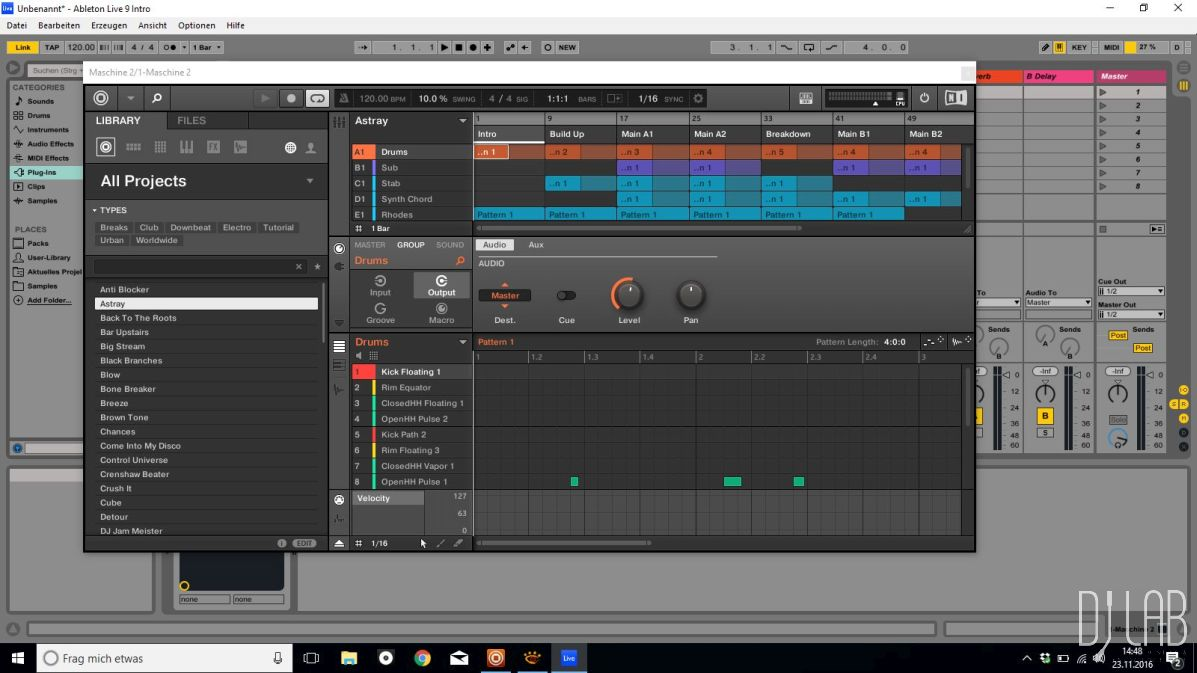 Maschine als Plug-in in Ableton Live