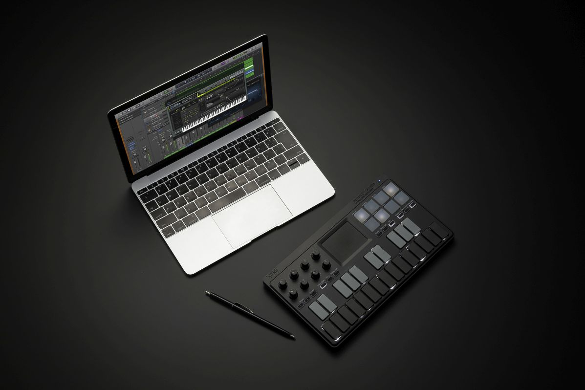 nanoKEY Studio in Kombination mit einem Mac