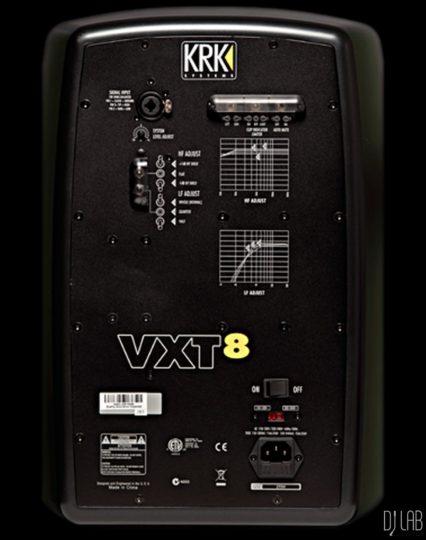 KRK VXT8 Anschlüsse und Einstellmöglichkeiten